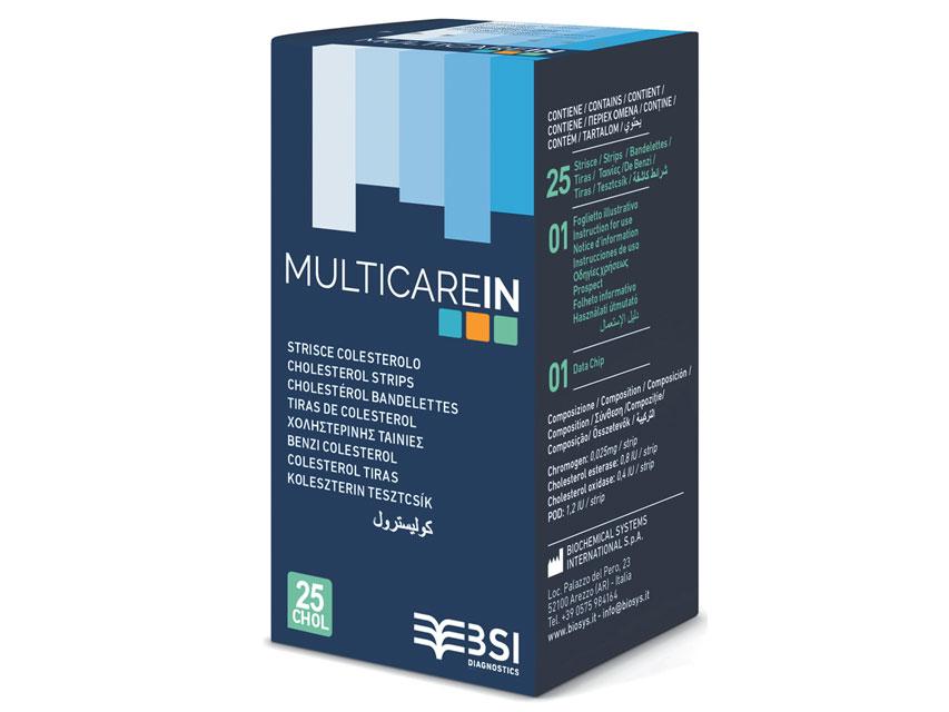 Teste colesterol MULTICARE In 25