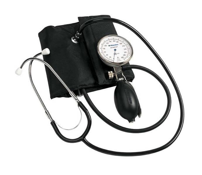 Tensiometru mecanic Riester Sanaphon cu stetoscop inclus