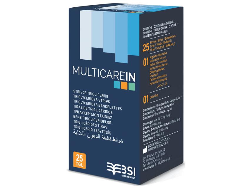 Teste trigliceride MULTICARE In 25