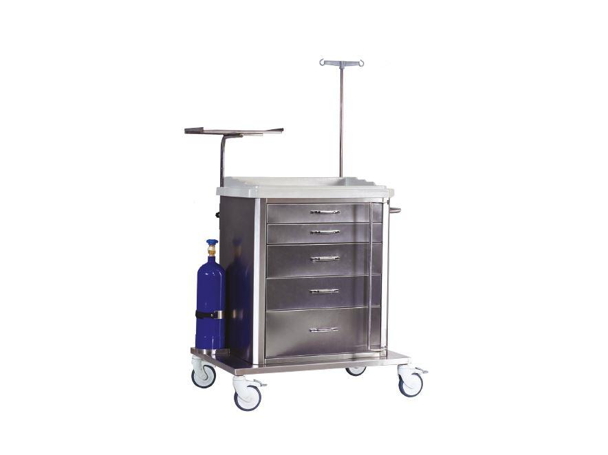 Troliu urgenta si instrumentar inox TM 1160