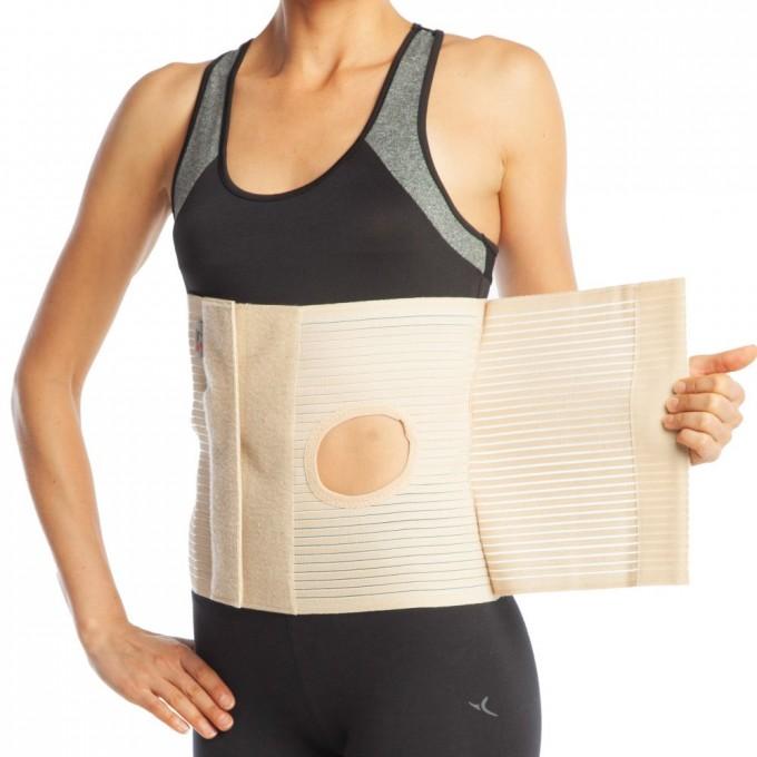 Orteza abdominala cu deschidere pentru colostomie h 26cm